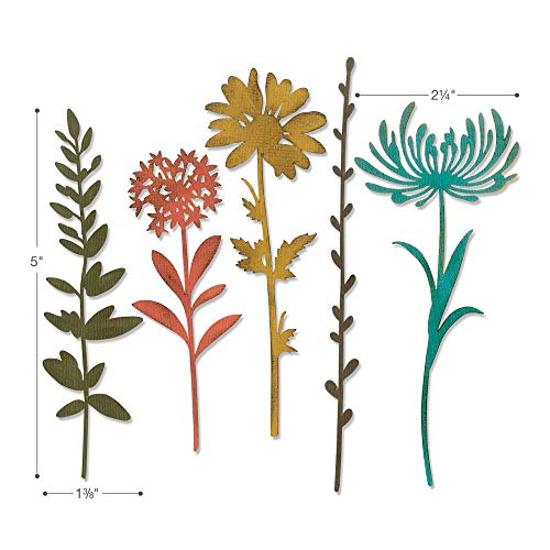 Tim Holtz Sizzix Flower Stems Thinlit Bundle - Wildflower Stems #1 and Wildflower Stems #2 by Tim Holtz (Image #2)