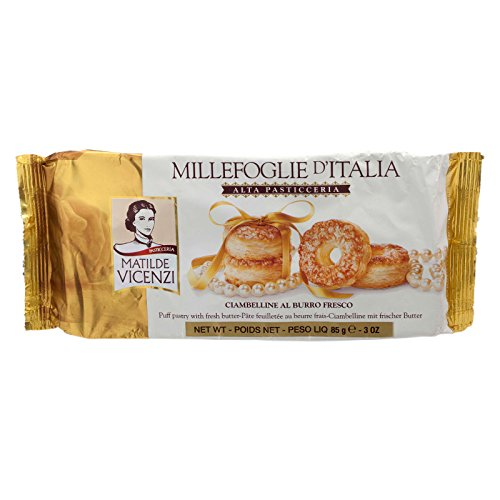 Matilde Vicenzi, Alta Pasticceria, Puff Pastry with Fresh Butter, net weight 85 g (Pack of 2 pieces) / Beststore by - Recipes Danish Cookies