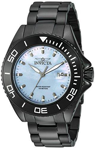 Invicta Men's 'Pro Diver' Quartz Stainless Steel Casual Watch, Color:Black (Model: 23069) (Mop Dial Men)