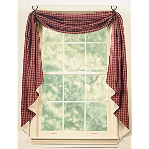 swag dining colored long window coverings swags room youll cream cute country curtains love valances