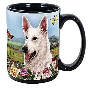 Imprints Plus Dog Breeds (E-P) German Shepherd White 15-oz Coffee Mug Bundle with Non-Negotiable K-Nine Cash (german shepherd white 081) 1