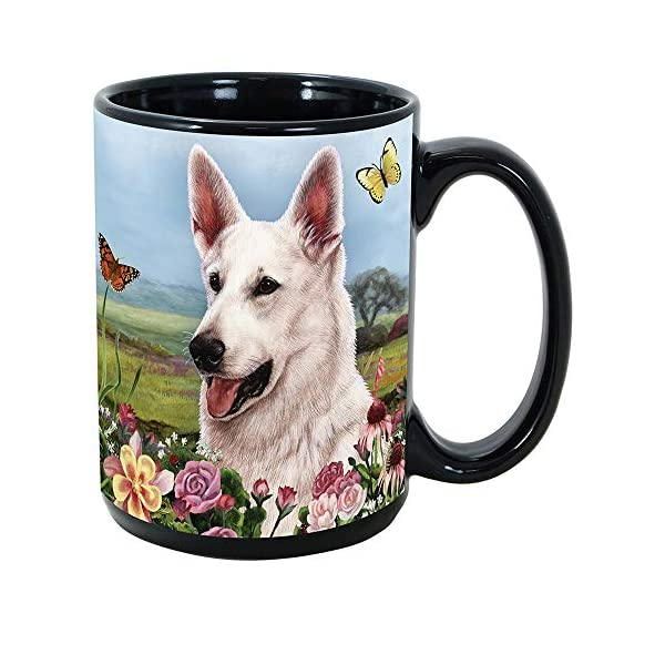 Imprints Plus Dog Breeds (E-P) German Shepherd White 15-oz Coffee Mug Bundle with Non-Negotiable K-Nine Cash (german shepherd white 081) 1
