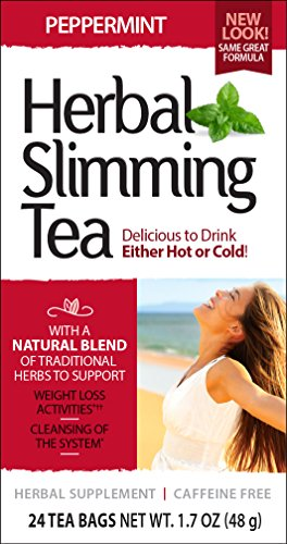 21st Century Tea (21st Century Slimming Tea, Peppermint, 24 Count)