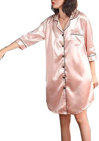 Vestido Camisón De Mujer Camisa Pijama Largo Ropa De Dormir Ropa de Fiesta Túnica Moda 2020 Ropa De Mujer: Amazon.es: Ropa y accesorios