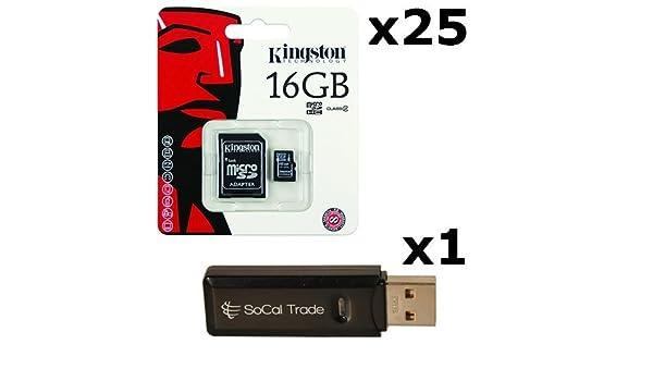 25 unidades - Kingston 16 GB MicroSD HC Clase 4 TF microSDHC ...