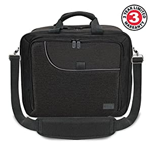 Portable Electronics Case Organizer with Custom Storage Compartments , Adjustable Shoulder Strap & Padded Interior by USA GEAR – Works w/ Tablets , Laptop Computers , Travel Projectors & More