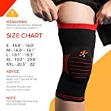 UFlex Athletics Knee Brace Support Sleeve Side Stabilizers Patella Padding Post Surgery, Knee Replacement Treatment, ACL, MCL, Meniscus Tears, Arthritis, Tendonitis -Single Wrap