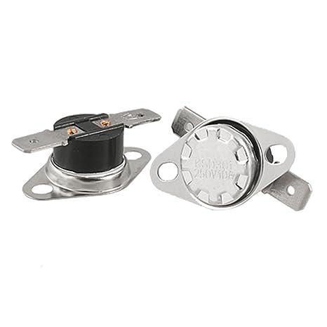 SODIAL (R) KSD301 167F 250V 10A 75C Termostato Interruptor de Control de Temperatura NO