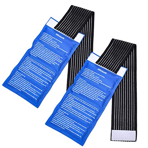 Gel Ice Cold Packs - (2-Piece Set) Soft Reusable Cold/Hot Compress, Provides Alleviate Joint and Muscle Pain. Support Rehabilitation, Flexible Therapy from Injuries