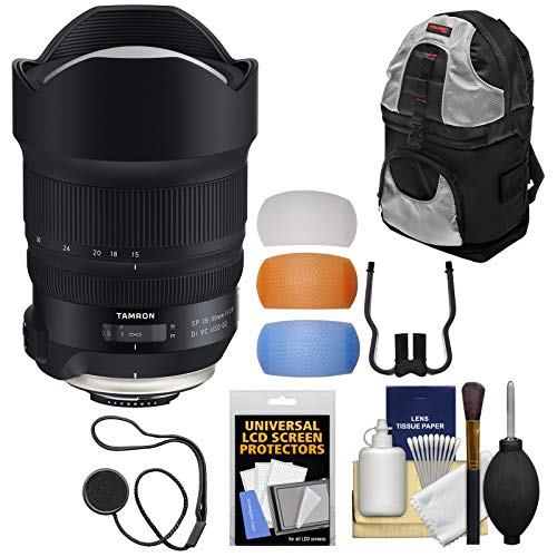 Price comparison product image Tamron SP 15-30mm f / 2.8 G2 Di VC USD Zoom Lens with Backpack + Flash Diffusers + Kit for Nikon Digital SLR Cameras