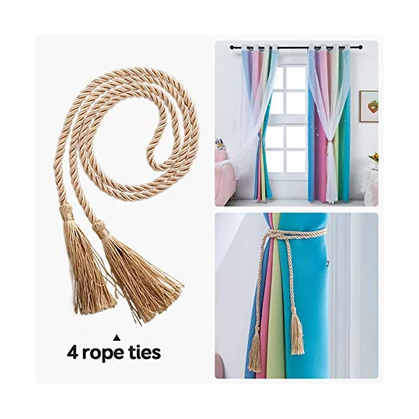 Girls Bedroom Rainbow Curtains with Sheer Girls Bedroom curtain