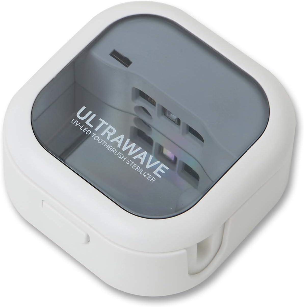 UV-C 歯ブラシ除菌器 ULTRA WAVE 紫外線LED 99.9%除菌 MEDIK 歯ブラシ除菌キャップ 小型 軽量 携帯に最適 ホワイト MDK-TS03(WHITE)