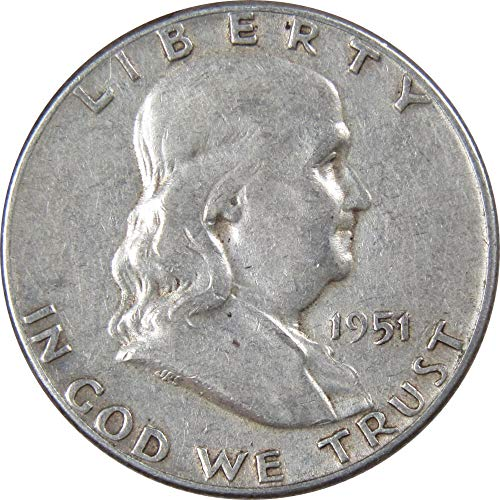 1951 50c Franklin Silver Half Dollar Average Circulated ()