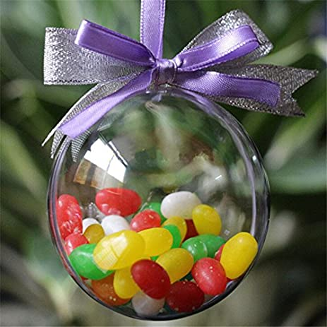 Since Transparent Hanging Ball For Xmas Tree Bauble Clear Plastic Home Party Christmas Decorations Gift Craft