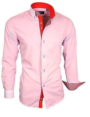 68461d080037 Binder de Luxe Herren Herren Hemd modern fit Langarm mit Kontrast und  Button-Down-Kragen  Amazon.de  Bekleidung