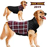 FairyMe Dog Jacket for Winter Reversible Dog Down Jacket Dog Clothes S,M,L,XL,2XL Waterproof Windproof Cold Weather British Style Plaid Warm Dog Vest & Dog Sweater for Small Medium Large Dog Sweater