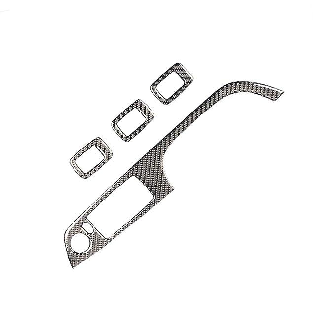 Senza pulsante piegato nero Vosarea Adesivi per vetrofanie con pulsante in fibra di vetro per BMW Serie 3 E90