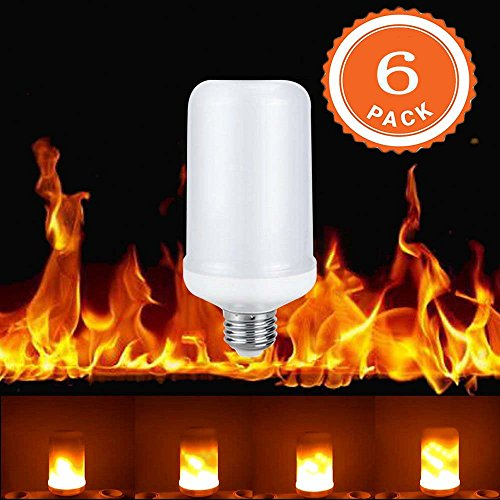 LED Flame Light Bulbs,Simulated Nature Fire Simulated Nature Fire Flickering Fire Effect Atmosphere Decorative Light Bulb for Festival Party Christmas Decoration by STI-JEWELS