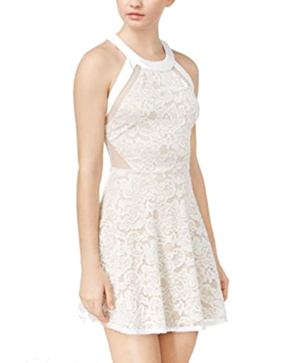 11ca2297c Crystal Doll Juniors' Lace Fit & Flare Dress at Amazon Women's Clothing  store: