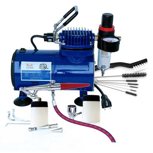 Paasche H-100D Single Action Airbrush & Compressor
