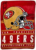 Northwest Officially Licensed NFL San Francisco 49ers Stacked Silk Touch Throw Blanket, 60″ x 80″