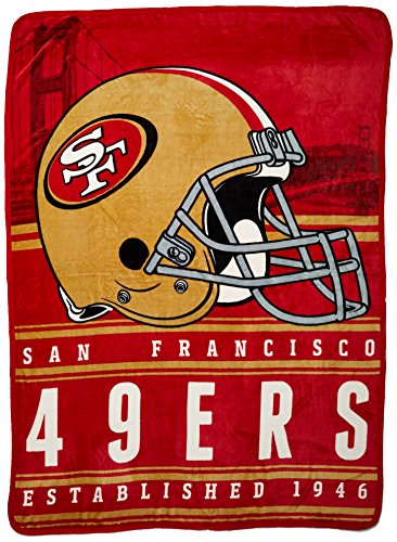 Officially Licensed NFL San Francisco 49ers Stacked Silk Touch Throw Blanket, 60