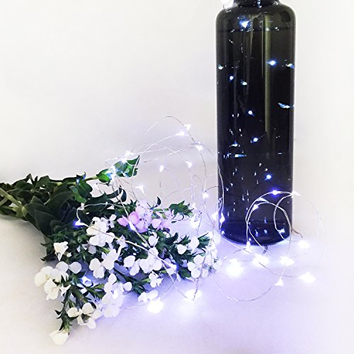 IllumiForce LED Starry String Lights, Battery Operated Fairy Lights, 32.8ft 100LEDs, 8 Light Modes With Remote Control, Decorations for Patio Birthday Party Christmas Home Decor, Pure White, Outdoor