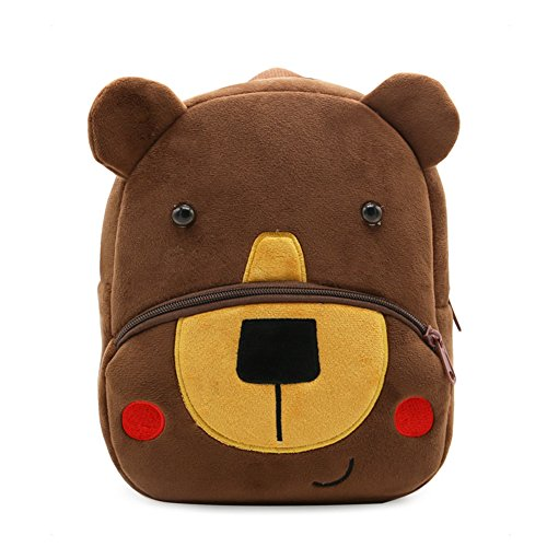 Cute Kids Toddler Backpack Plush Toy Animal Cartoon Children Bag for 1~5 Years Baby (Bear) -