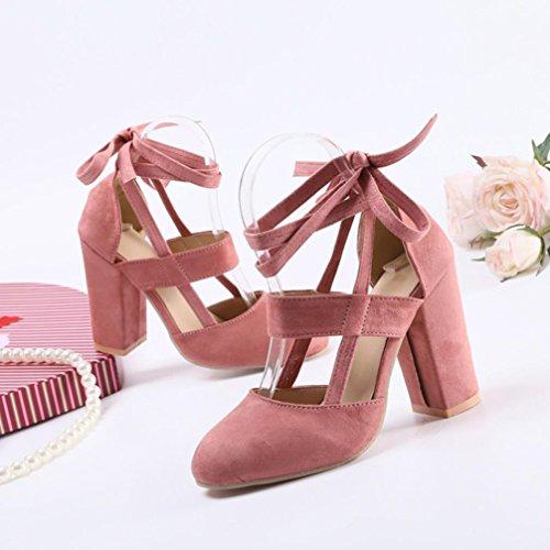 TPulling Herbst Und Winter Schuhe Mode Damenschuhe Mit Hochhackigen Schuhen Mit Großen Schuhen Rosa