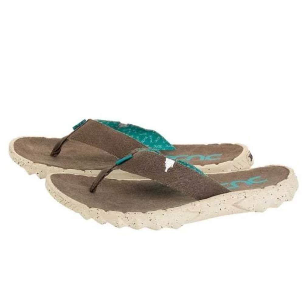 Dude Shoes Tela di Azur Sava Grigio Donna Uomo Infradito