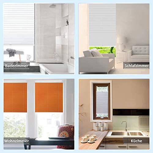 100x200 Grandekor Store pliss/é sans per/çage Klemmfix Polyester beige