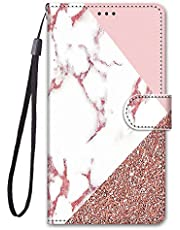 Miagon Full Body Wallet Case for Samsung Galaxy A8 2018,Colorful Pattern Design PU Leather Flip Cover with Magnetic Closure Stand Card Slot,Marble