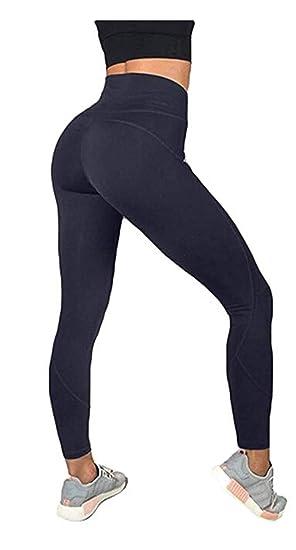 ef6b57eb0c4756 BunnyHouse Women's Ultra Soft High Waist Yoga Leggings Stretch Workout  Running Tights Regular and Plus Size