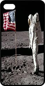 Astronaut Planting American Flag On Moon Surface Black Plastic Case for Apple iPhone 6 Plus