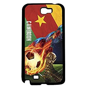 Green, Red, and Yellow Cameroon Soccer Flag Fan Art Hard Snap on Phone Case (Note 2 II)