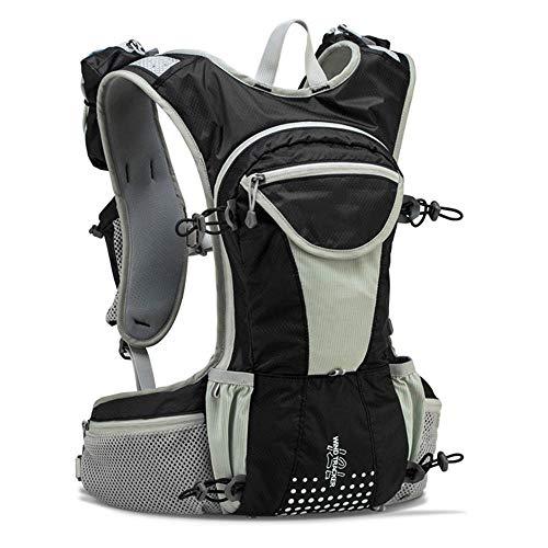 Amazon.com : XUSHSHBA Running Bag 12L Large Marathon Trail Running Backpack Hydration Vest Pack for 2L Water Bladder Cycling Hiking Bag Black Bag Only ...