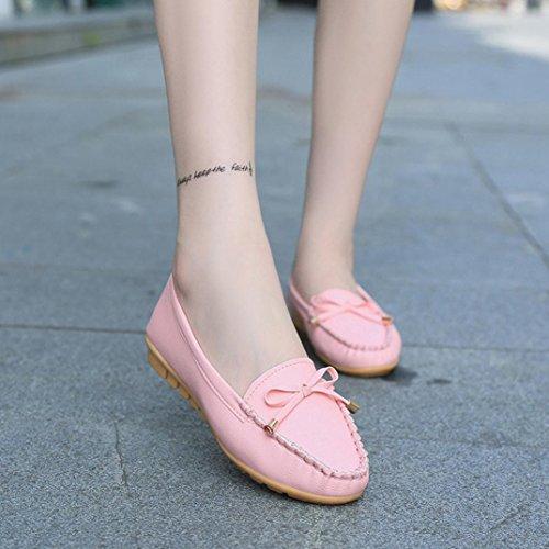 Gbsell Moda Mujer Zapatos Planos Resbalón En La Comodidad Zapatos Zapatos Planos Mocasines Rosa