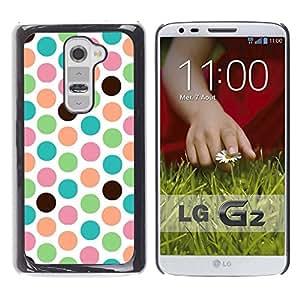 For LG G2 / D800 / D802 / D802TA / D803 / VS980 / LS980 Case , Dot Teal Green White Pattern - Diseño Patrón Teléfono Caso Cubierta Case Bumper Duro Protección Case Cover Funda