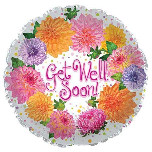 CTI Balloons 114063 Get Well Soon Chrysanthemum, 17