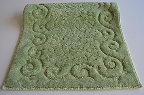 Tris parure tappeti bagno art regal colore verde generico