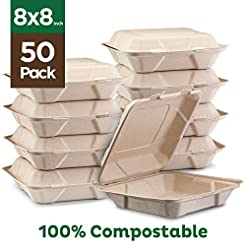 100% Compostable Clamshell Take Out Food...