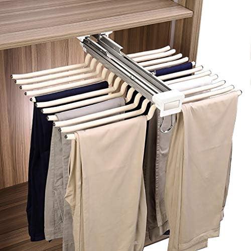 2 St/ück Hosenb/ügel Platzsparend 5 IN 1 Hosen Kleiderb/ügel Mehrfach aus Edelstahl Ausziehbar f/ür Hosen Schals Jeans Kleidung Handt/ücher Type 2