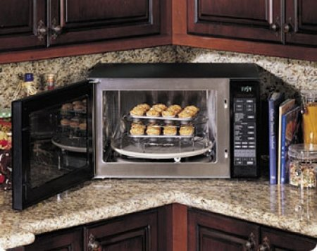 DCM24S Discovery 1.5 Cu. Ft. Countertop Convection Microwave with 10 Sensor Cooking Modes Stainless Steel Interior & 900 Watts of Power: Stainless