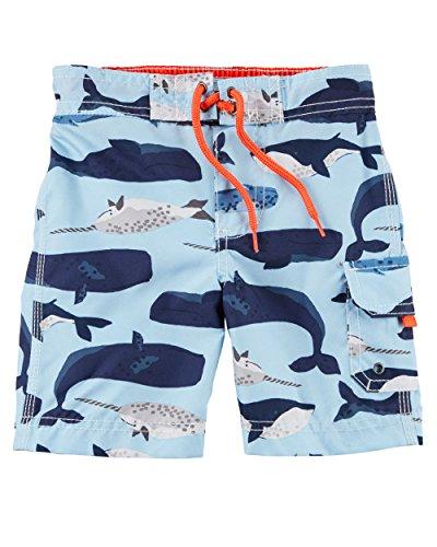 Carter's Baby Boys' Swim Trunks (24 Months, Blue Whale) ()