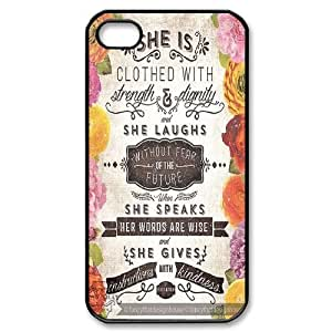 Fggcc She is clothed with strength Cell Phone Case for Iphone 4,4S,She is clothed with strength Iphone 4,4S Back Case (pattern 8)