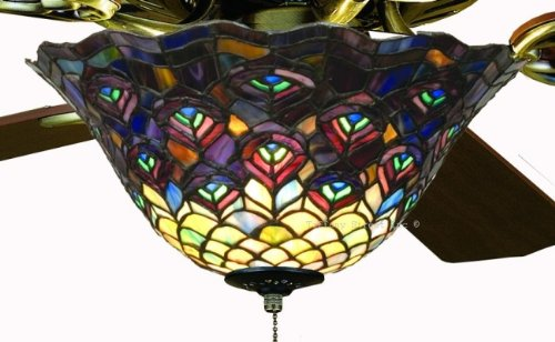 Tiffany street 25021 peacock stained glass ceiling fan light kit tiffany street 25021 peacock stained glass ceiling fan light kit aloadofball Images