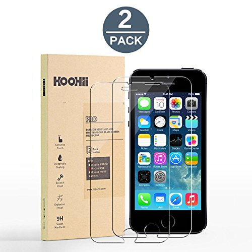 Price comparison product image iPhone 6/6s Screen Protector Glass,Tech Armor HOOHIITempered Glass (0.26mm),9H Hardness Bubble Free, Anti-Fingerprint, Oil Stain(2 pack)