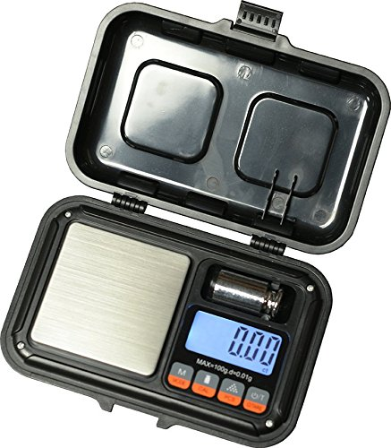 US-Rugged Digital Pocket Scale 100g x 0.01g With Free Calibration Weight And Batteries by US Balance