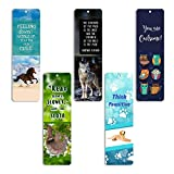 Creanoso Animal Bookmarks (60 Pack) - Dog Horse Owl Sloth Wolf Bookmarks for Books - for Men Women Boys Girls Teens Kids - Reading Bookmarks