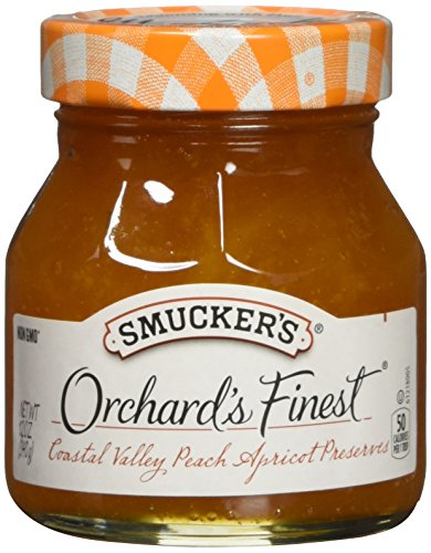 Smucker's  Orchard's Finest  Coastal Valley Peach Apricot Preserves, 12-Ounce (Pack of 6)